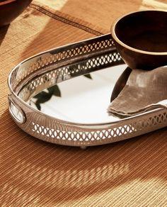 Mirror Tray, Oval Mirror, Zara Home, Art Nouveau, Art Deco, Cuff Bracelets, Rings For Men, Jewelry, Decor