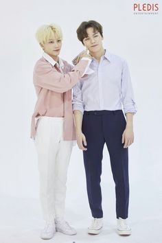 Jeonghan and Vernon Vernon Seventeen, Seventeen Debut, Jeonghan, Woozi, Hip Hop, Won Woo, Seventeen Wallpapers, Pledis 17, Pledis Entertainment