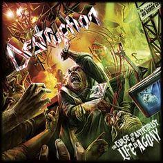 """L'album dei #Destruction intitolato """"The curse of the antichrist - Live agony""""."""