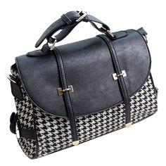 $23.13 (Buy here: https://alitems.com/g/1e8d114494ebda23ff8b16525dc3e8/?i=5&ulp=https%3A%2F%2Fwww.aliexpress.com%2Fitem%2FVintage-Fashion-Houndstooth-Women-PU-Leather-Shoulder-Bags-High-Quailty-Chic-Women-Messenger-Bags-A60-306%2F32370203911.html ) Vintage Fashion Houndstooth Women PU Leather Shoulder Bags High Quailty Chic Women Messenger Bags  A40-306 for just $23.13
