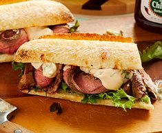 BBQ Flank Steak Sandwich