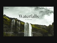 Waterfalls Scroll Distort Effect interaction clean after effects landing page animation ux interface web website ui web design Interface Web, Interface Design, After Effects, Website Design Layout, Website Designs, Website Ideas, Blog Design, App Design, Design Trends