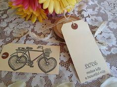 10♥Vintage Bicycle Love Wheels ♥Wedding Wish Tree Favour Tags ♥Wishing Tree♥