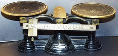 Antique Henry Troemner Cast Iron Balance Scale #3