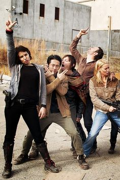 Some of the Walking Dead cast.