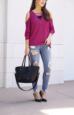 Berry Lace up Tunic