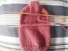 Como tejer calcetines, aspecto del talón terminado