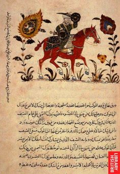"From a century furusiyya manual, showing ""clay cutting"" with real sword/sabre and fencing with sparring weapons. Islam And Science, Statues, Islamic Paintings, Deep Art, Occult Art, Iranian Art, Islamic Art Calligraphy, Antique Paint, Equine Art"