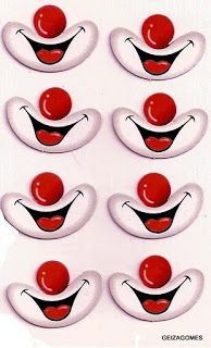 publicidade: Só quem trabalha com artesanato sabe, o quanto é difícil fazer os detalhes de bonecas de pano, bichinhos em feltro, animais ou até mesmo trabalhos manuais em E.v.a porém, são estes detalhes que dão todo um charme ao trabalho digamos, que se for feito de qualquer maneira pode arruinar qualquer peça. É através do … Circus Birthday, Circus Theme, Circus Party, Kids Crafts, Diy And Crafts, Arts And Crafts, Paper Crafts, Clown Faces, Cartoon Faces