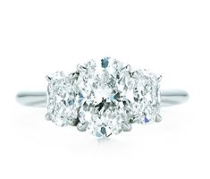 Oval Shape Three Stone Engagement Ring! Its Tiffany's!