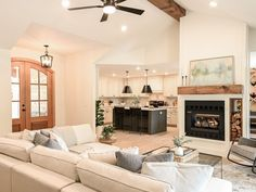 HGTV Fixer to Fabulous Living Room Renovation with Dave and Jenny Marrs. Trim Paint Color, Merry Christmas Friends, Cabinet Paint Colors, Exterior Trim, Painting Trim, Find Furniture, Painting Cabinets, Living Area, Living Room