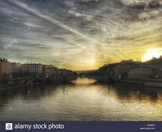 Download this stock image: Saone River, Lyon, France - S0N6EF from Alamy's library of millions of high resolution stock photos, illustrations and vectors.