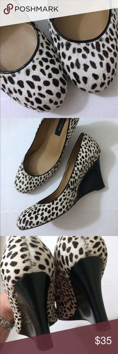 Gorgeous Pony Hair Wedge Heels Size 7.5 Worn a few times. Super stylish. 7.5 Ann Taylor Shoes Wedges