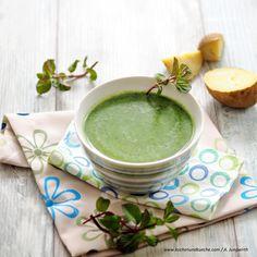 Spinatschaumsuppe mit Minze Schaum, Cantaloupe, Veggies, Fruit, Ethnic Recipes, Food, Mint, Spinach, Cooking Recipes