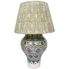 A 19th century Moroccan vase as a lamp | From a unique collection of antique and modern table lamps at https://www.1stdibs.com/furniture/lighting/table-lamps/