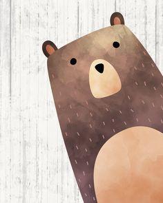 Leśny przedszkola ściana sztuka-niedźwiedź druk-leśny image 0 Safari Nursery, Nursery Wall Art, Bear Nursery, Woodland Nursery Prints, Woodland Art, Baby Wall Art, Nursery Decor, Art D'ours, Bear Print