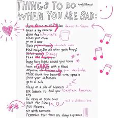 Things to do when sad...yeah the newspaper ALWAYS makes me sad but I still read it every morning :P