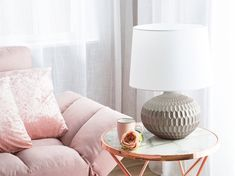 Pöytävalaisin kultavalkoinen PIRITA | Beliani.fi Bedside Table Lamps, Ceramic Table Lamps, Decoration, Floor Lamp, Elegant, Shades, Living Room, Lighting, Design