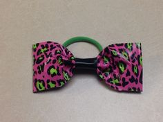 Duct Tape Cheetah Hair Bow