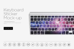 Keyboard Sticker Mock-up by dennysmockups on @creativemarket