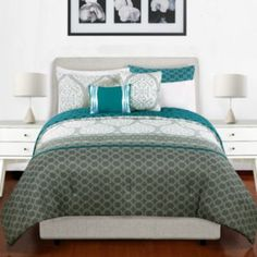 Natalia 5-pc. Reversible Comforter Set to help design my room for fall school year#PCandKohlsBTS