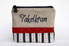Maritime Kosmetiktasche *Takelkram*- Täschchen von FLINTHOLM   auf DaWanda.com