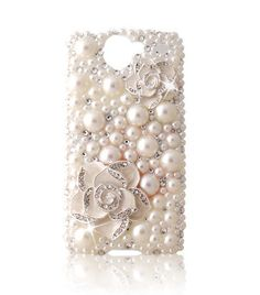 Pearl & Crystal HTC Desire Cell Phone Cover- I wish she had this for the iPhone... so pretty!