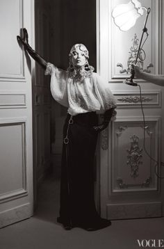 Beautiful and opulent shoot of Kate Moss at The Ritz in Paris, photographed by Tim Walker and styled by Grace Coddington for Vogue US
