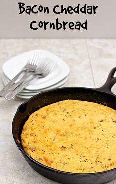 Bacon Cheddar Cornbread | Recipe | Cornbread, Cheddar and Bacon