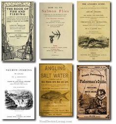 Antique fishing books