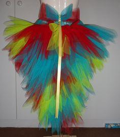 girl parrot costume | Bird costumes using tutus