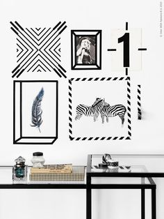 Best wall art black and white diy washi tape 40 ideas Tape Wall Art, Washi Tape Wall, Tape Art, Diy Washi Tape Frames, Diy Home Decor, Room Decor, Wall Decor, Hackers Ikea, Deco Tape