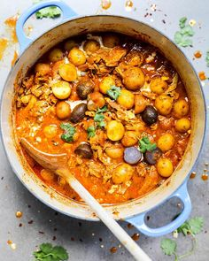 """471 Likes, 87 Comments - Liz (@floatingkitchen) on Instagram: """"This Indian Chicken and Potato Stew with Garam Masala Tomato Sauce is like the food version of the…"""""""