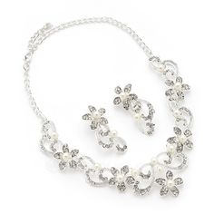 Gorgeous Alloy With Rhinestone/Imitation Pearls Ladies' Jewelry Sets (011054298)
