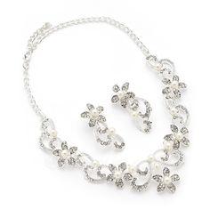 Gorgeous Alloy With Rhinestone/Imitation Pearls Ladies' Jewelry Sets (011054298)
