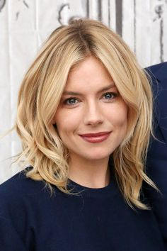 Sienna Miller: Hair Style File Queen of boho turned Hollywood starlet, Sienna Miller is as muc Haircut For Thick Hair, Wavy Hair, New Hair, Curly Pixie, Pixie Cut, Mid Length Hair, Shoulder Length Hair, Sienna Miller Hair, Sienna Miller Style