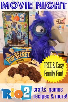 next family movie night   free recipes crafts games kid activities