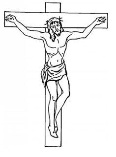 jesus cross coloring pages simple pencil drawings printable dies drawing sketch template cartoons outlook