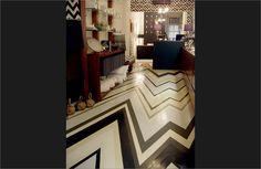 painted zig zag floors