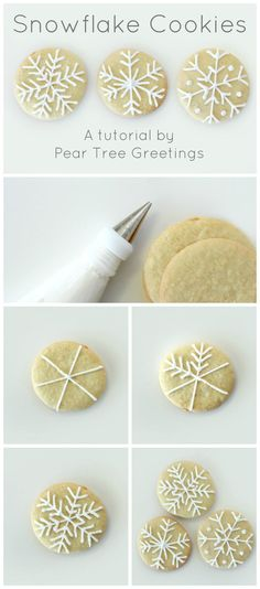 Learn how to make a these snowflake Christmas cookies that are sure to impress your family!  #Paper Snowflakes