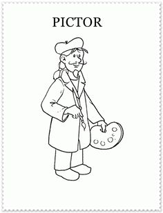 Occupations - 999 Coloring Pages People Coloring Pages, Origami, Roman, Arts And Crafts, Snoopy, Fictional Characters, Palette, Sport, Education