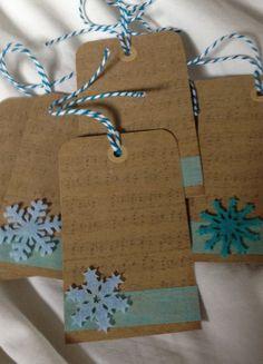 Bev's handmade Christmas gift tags