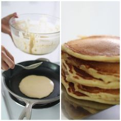 Recipes that allow you to prep the night before are always wonderful, and take away some stress when entertaining. overnight pancakes | foodloveswriting.com