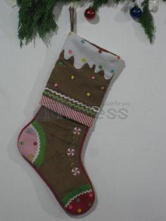 Christmas stockings ( brown stitching )