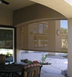 Motorized Exterior Shade by WPM  www.windowproductsmanagement.com Exterior Shades, Motorized Shades, Windows, Outdoor Decor, Home Decor, Decoration Home, Room Decor, Home Interior Design, Ramen