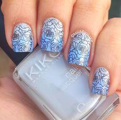 #roses #gradient #grey #kiko #blue #barrym
