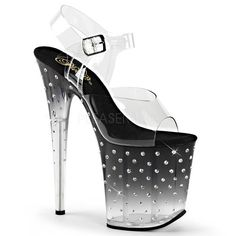 STARDUST-808T Platform Sandals by Pleaser. FREE Shipping & Returns on Pleaser heels, platform sandals, sexy boots, and pole dancing shoes.