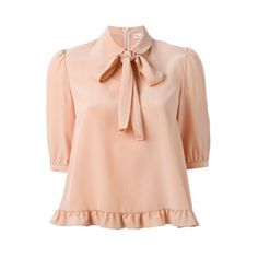 f9b01244e720ae Valentino Damen ruffled hem pussybow blouse - reduziert ( 430) ❤ liked on Polyvore  featuring