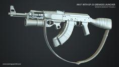 ArtStation - AK47 With GP-25 Grenade Launcher, Nam Nguyen