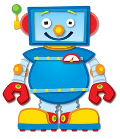 Robot Clip art, can be used for Robot Bolt counting game.